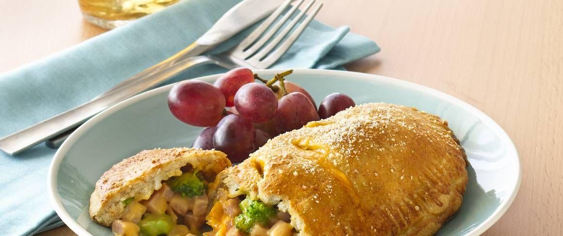 Broccoli ham and cheese foldovers recipe recipes ham