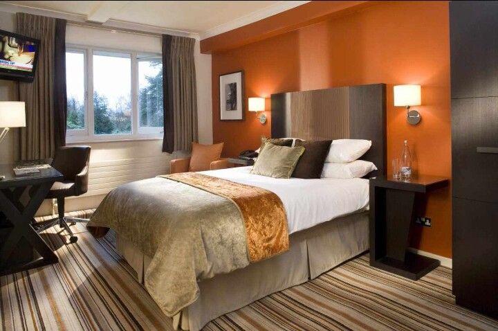 Beautiful Bedroom With Burnt Orange Walls And Browns Warm Bedroom Colors Warm Bedroom Paint Colors Luxury Bedroom Furniture