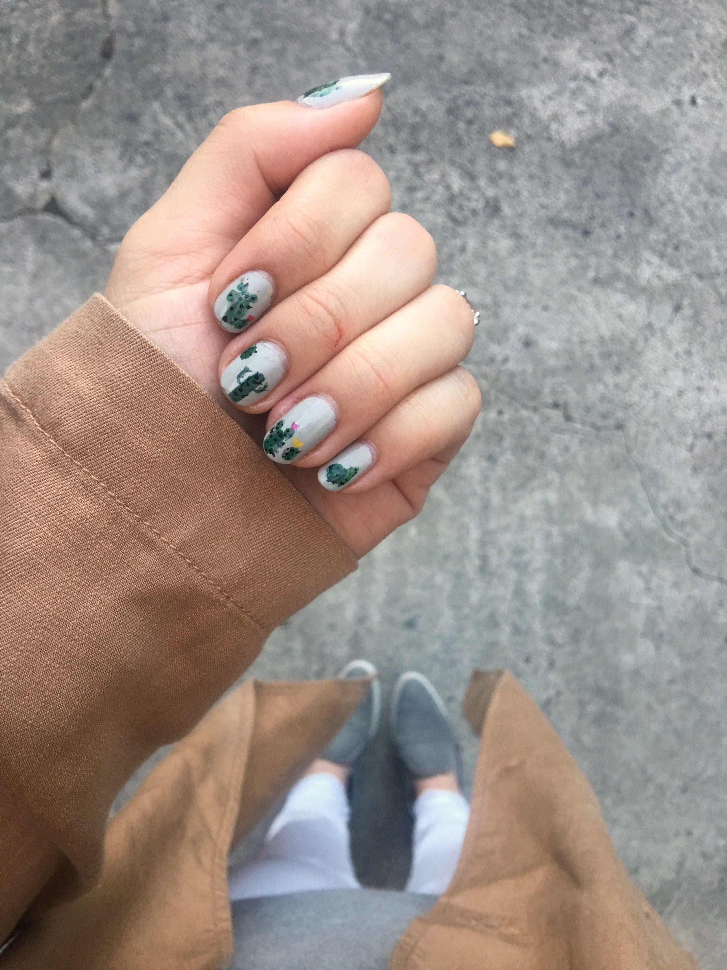 Cactus Nail Art Nails Pinterest Painted Nail Art Cacti And