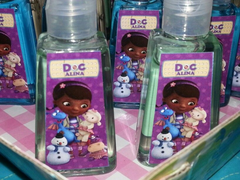 Doc Mcstuffins Custom Hand Sanitizer Labels Doc Alina By
