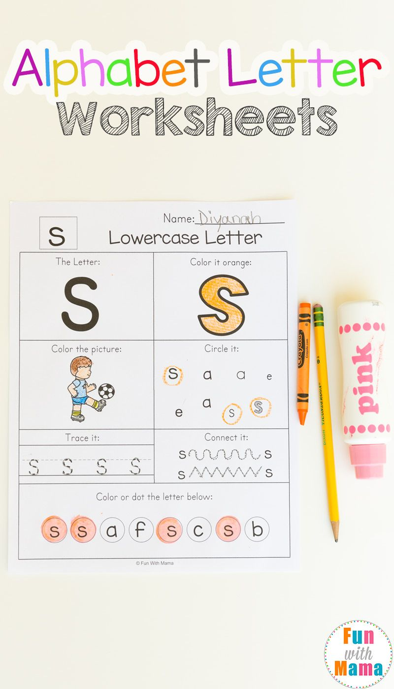 Alphabet Worksheets Teaching Kids Letter