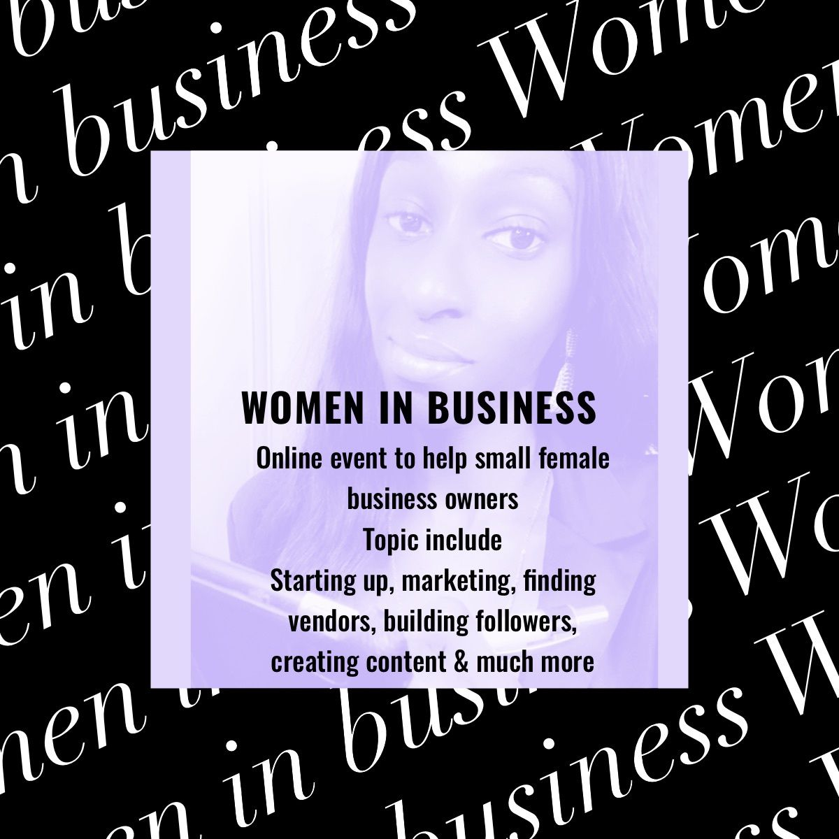 You asked So I delivered!!!!! Women in Business Event We will discuss EVERYTHING business From starting, Building, Growing and keeping a business December 19, 2020 Link in bio to secure your tickets #girlboss #femaleentrepreneur #pryncessfoundation #coachingwomen #entrepreneur #bosslady #womeninbiz #womensupportingwomen #creativeentrepreneur #toronto #business #motivation