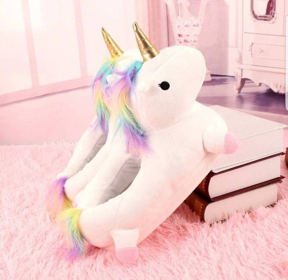 Holiday Gift Guide for the Unicorn Lover - Unicorn slippers, Unicorn plush, Slippers, Winter slippers, Plush cotton, Unicorn lover - The little girls in our family love two things  American Girls and Unicorns! So I'm on the search for the perfect gift for our little unicorn fan and I just had to share some of my favorite …