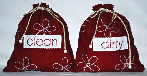 Travel lingerie bags by bamabags on Etsy, €18.00
