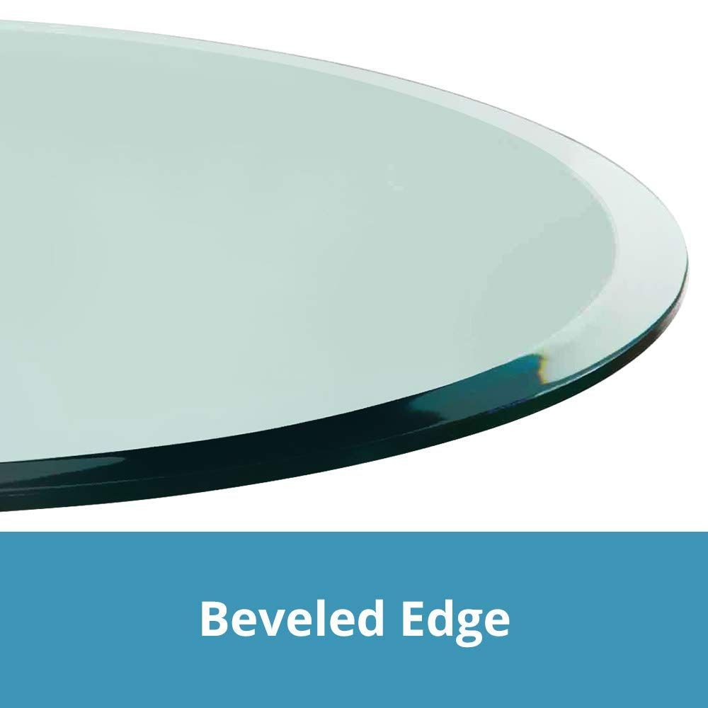 Round Glass Table Top Custom Tempered Clear Tempered 1 2 Thick Glass With Beveled Polished Edge For Dining Glass Table Round Glass Table Round Glass Table Top