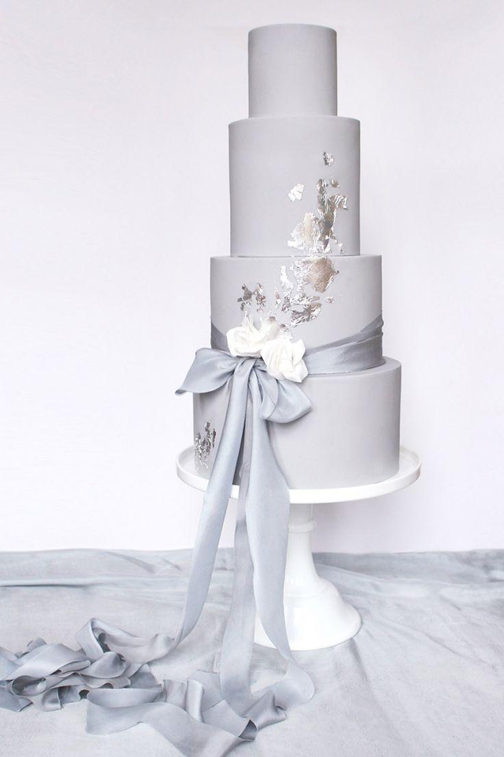 Wedding Ideas By Pantone Colour Harbor Mist Wedding cake CHWV