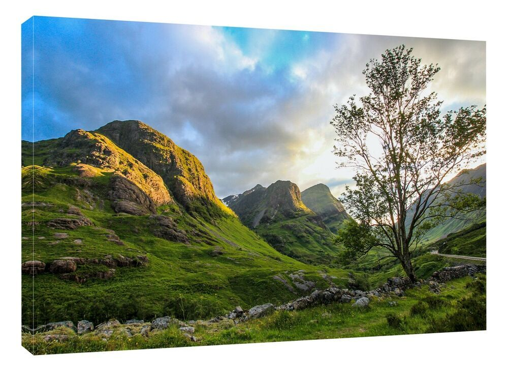 Print canvas print or black framed print Isle of Skye Slighagan