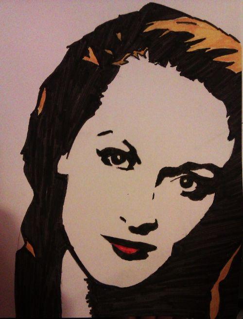 Meryl Streep Pop Art