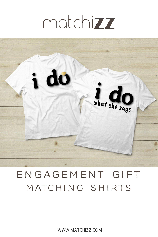 ef773b41ad Engagement Gift or Wedding Gift Couples Shirts for bride and groom  #Engagementgift #couplesshirts #bridegroom #weddinggift