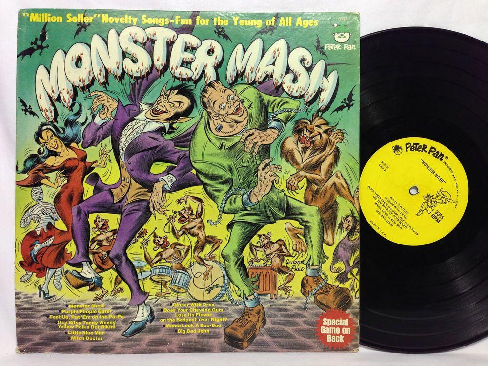 Monster Mash Peter Pan Lp Rare Horror Vintage Halloween Record