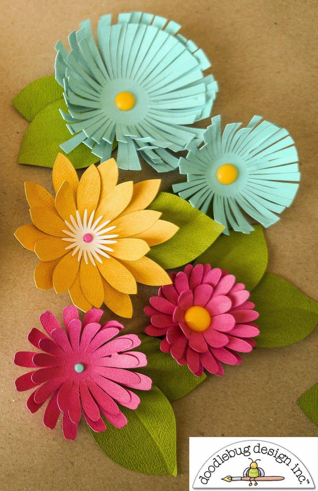 Doodlebug Design Inc Blog Doodlebug 3d Flower Wreath Tutorial By