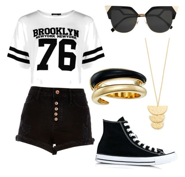 """😍😍😍😊😊😊😜😜😳😳"" by daniela-reque on Polyvore featuring Boohoo, River Island, Fendi, Converse, Gorjana y Michael Kors"