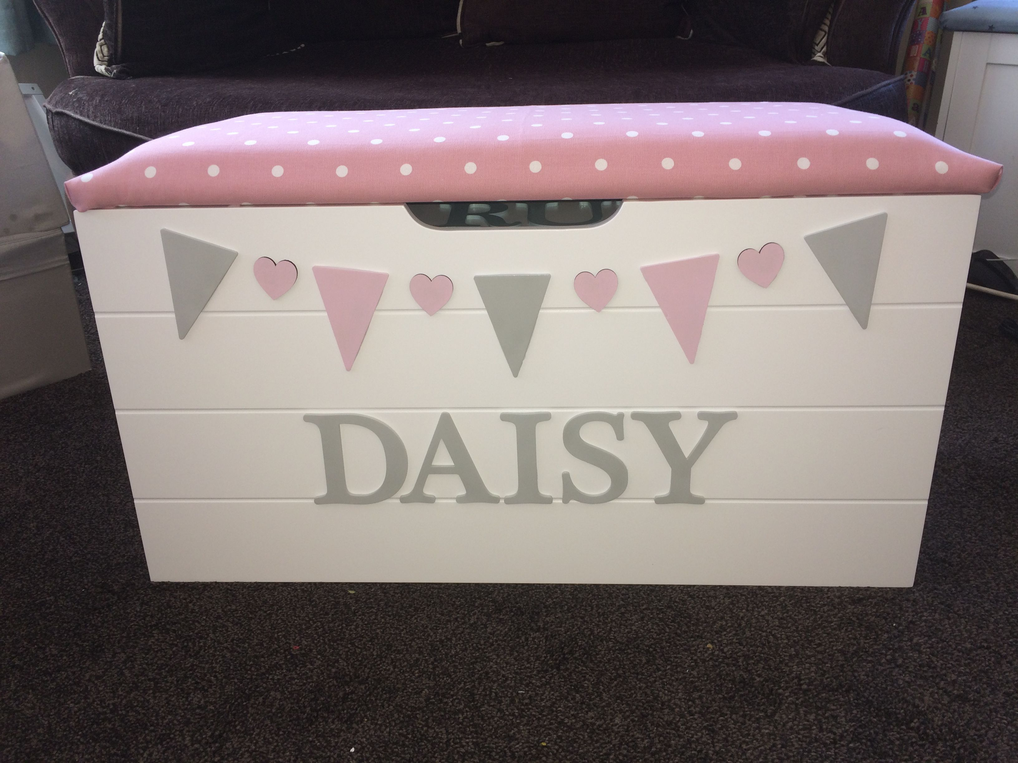 Personalised Toy Boxes Gifts By Littlebowchicgifts On Etsy Personalised Toy Box Personalized Toys Toy Box Gifts