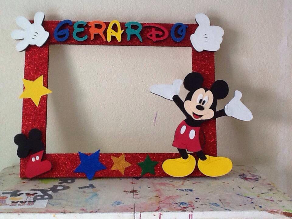 Mickey cuadros para fotos pinterest mickey mouse - Decoracion de marcos para fotos ...