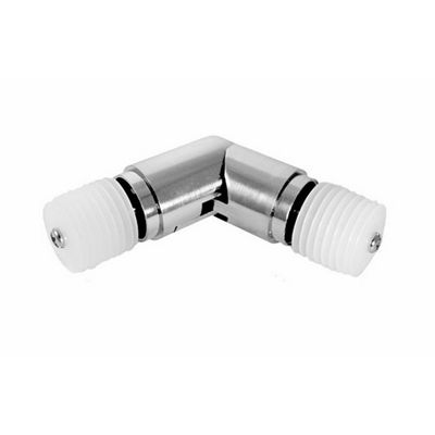 Metropolitan Brushed Nickel Corner Curtain Rod Elbow Corner