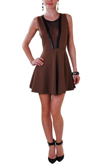 brown mini dress