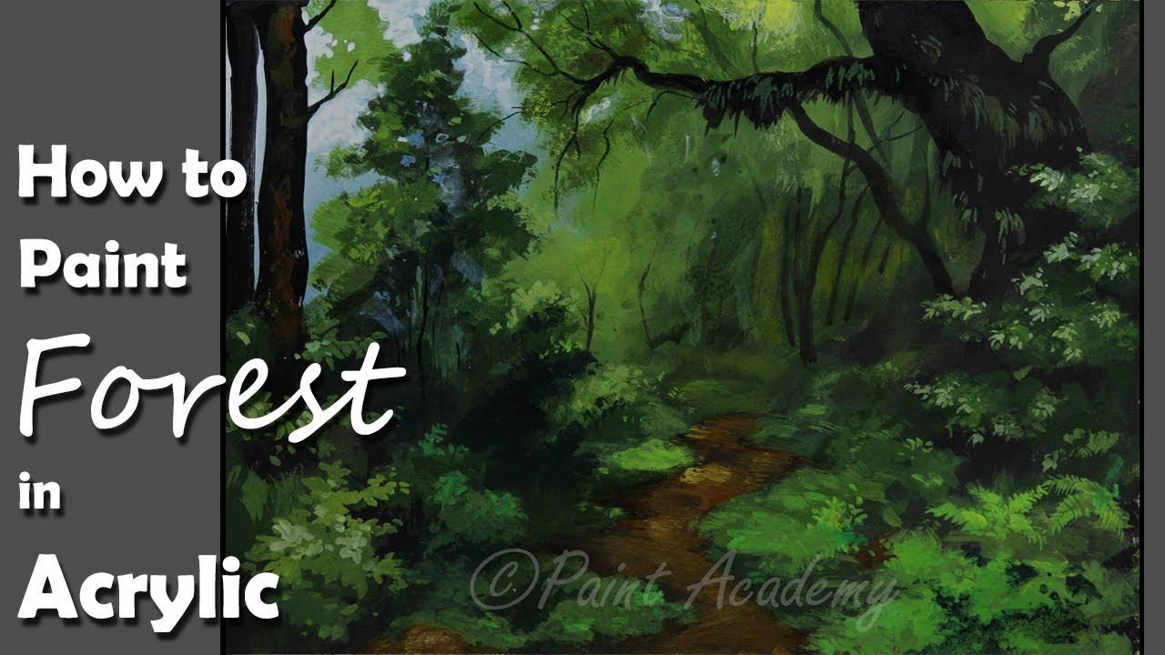 Pictures of tree houses real or fantasy (plans, drawings, designs, any material, ewok villages). Acrylic Painting Dense Forest Forest Trees Painting Step By Step Tree Painting Step By Step Painting Acrylic Painting