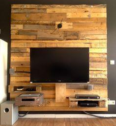 tv wand als raumteiler holz - google-suche | deko drinnen ... - Wohnwand Ideen Selber Machen