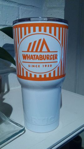 Custom Painted Whataburger Yeti Bayou City Graphics