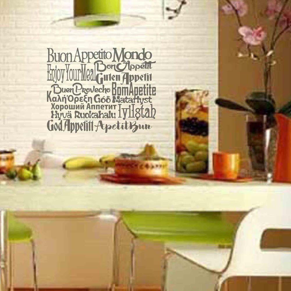 Buon Appetito Adesivi Murali Scritte Adesive Frasi Adesive