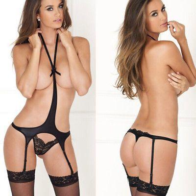 c501e688732 Women Sexy Lingerie Lace Babydoll Thong Underwear Nightwear Free Size XXS-L