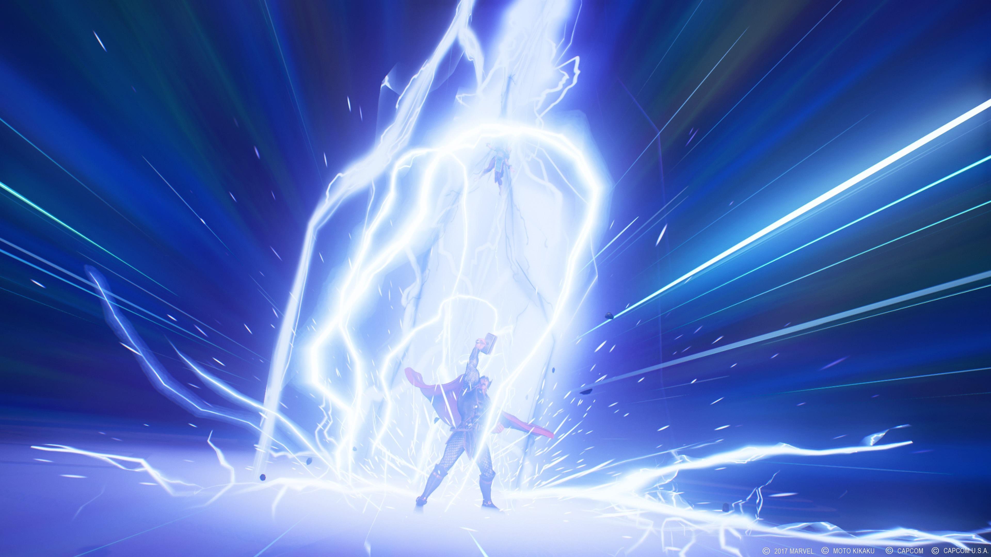 Cool Thor Lightning 4K Marvel vs. Infinite