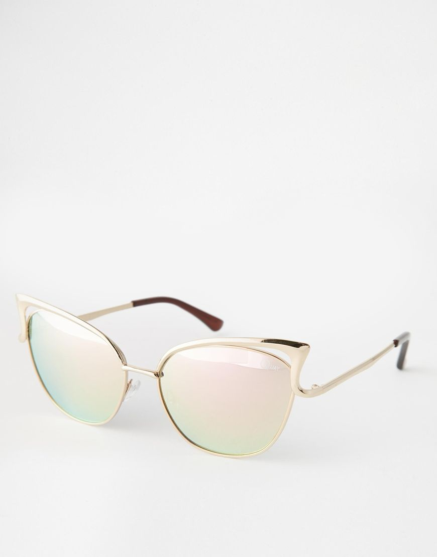 84c6020bfa661 Image 1 of Quay Australia Exclusive Lana Sunglasses in Rose Gold ...