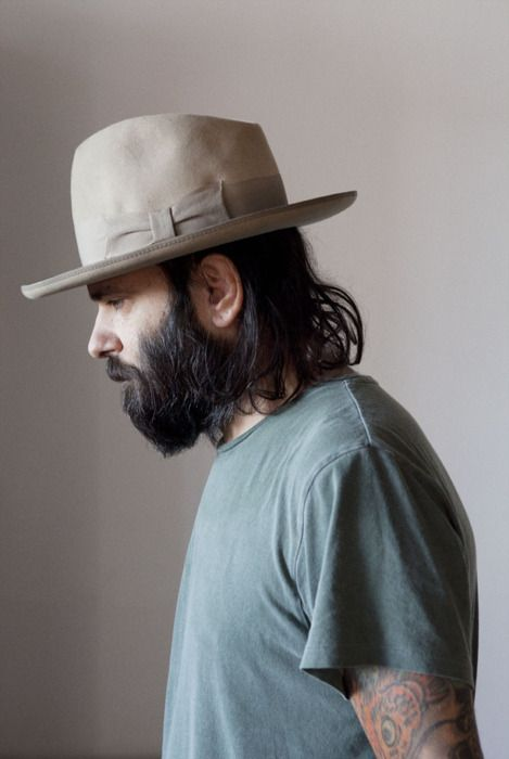 41b1a648c8f6fc Beard,Tats, and a Stetson Open Road | Sartorial Inspiration | Hats ...