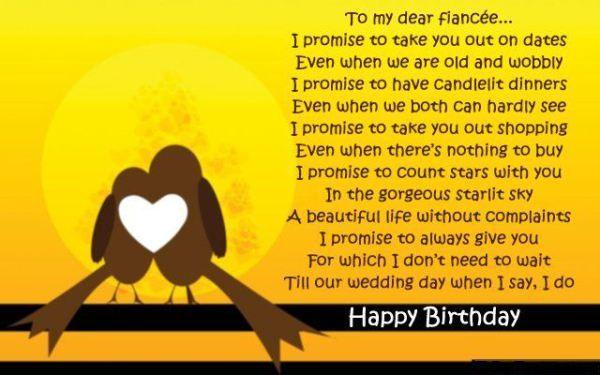 Romantic Birthday Card Poem For Fiancee