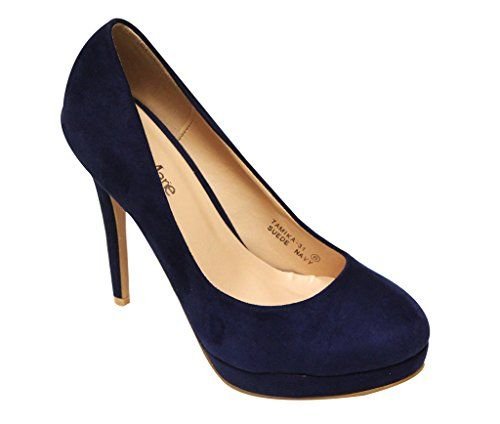 Bella Marie Tamika-31 Women's classic platform stiletto high heels pump suede material shoes Navy 9 Bella Marie http://www.amazon.com/dp/B0106USLIG/ref=cm_sw_r_pi_dp_f9W9wb16MTA05