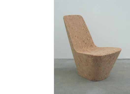 cork chair by jasper morrison limited edition piece made from precision milled blocks of recycled wine