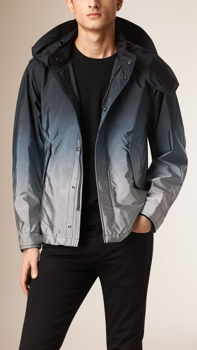 Dip Dye Technical Jacket With Detachable Hood Activewear Jackets Leather Outerwear Jackets [ 1334 x 750 Pixel ]