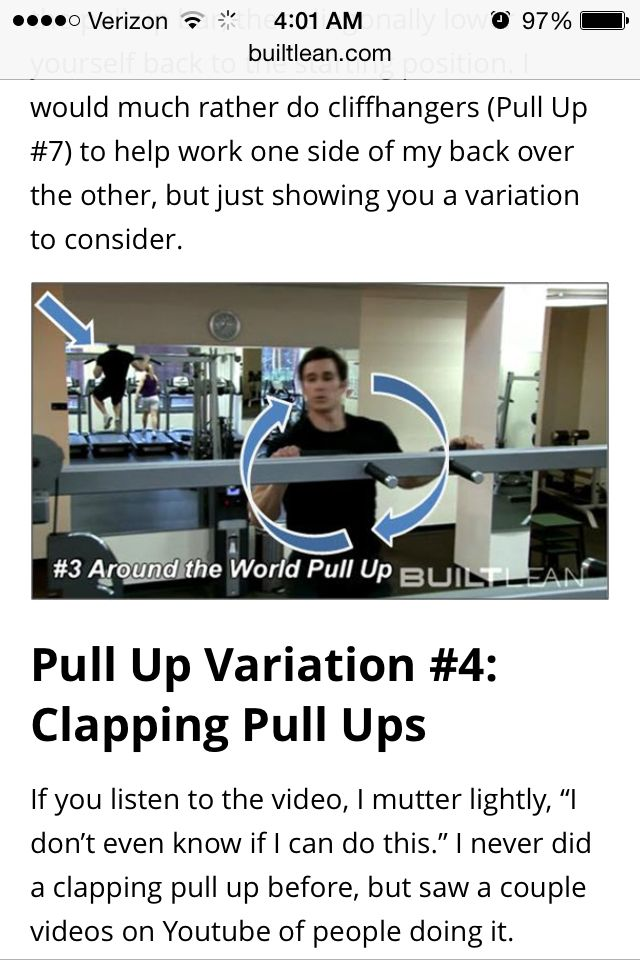 Ten types of Pull ups
