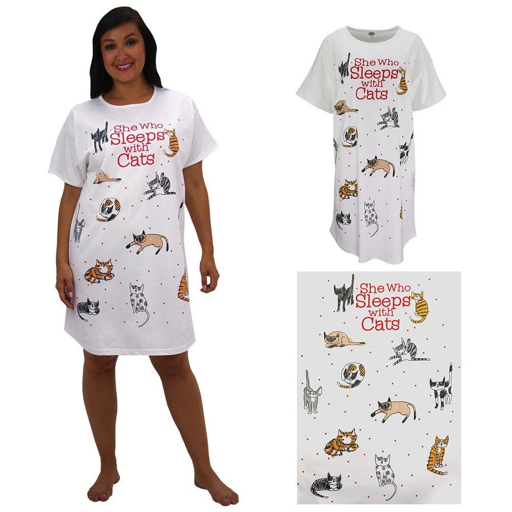 16a0d64490 She+Who+Sleeps+With+Cats+Nightshirt+at+The+Animal+Rescue+Site ...
