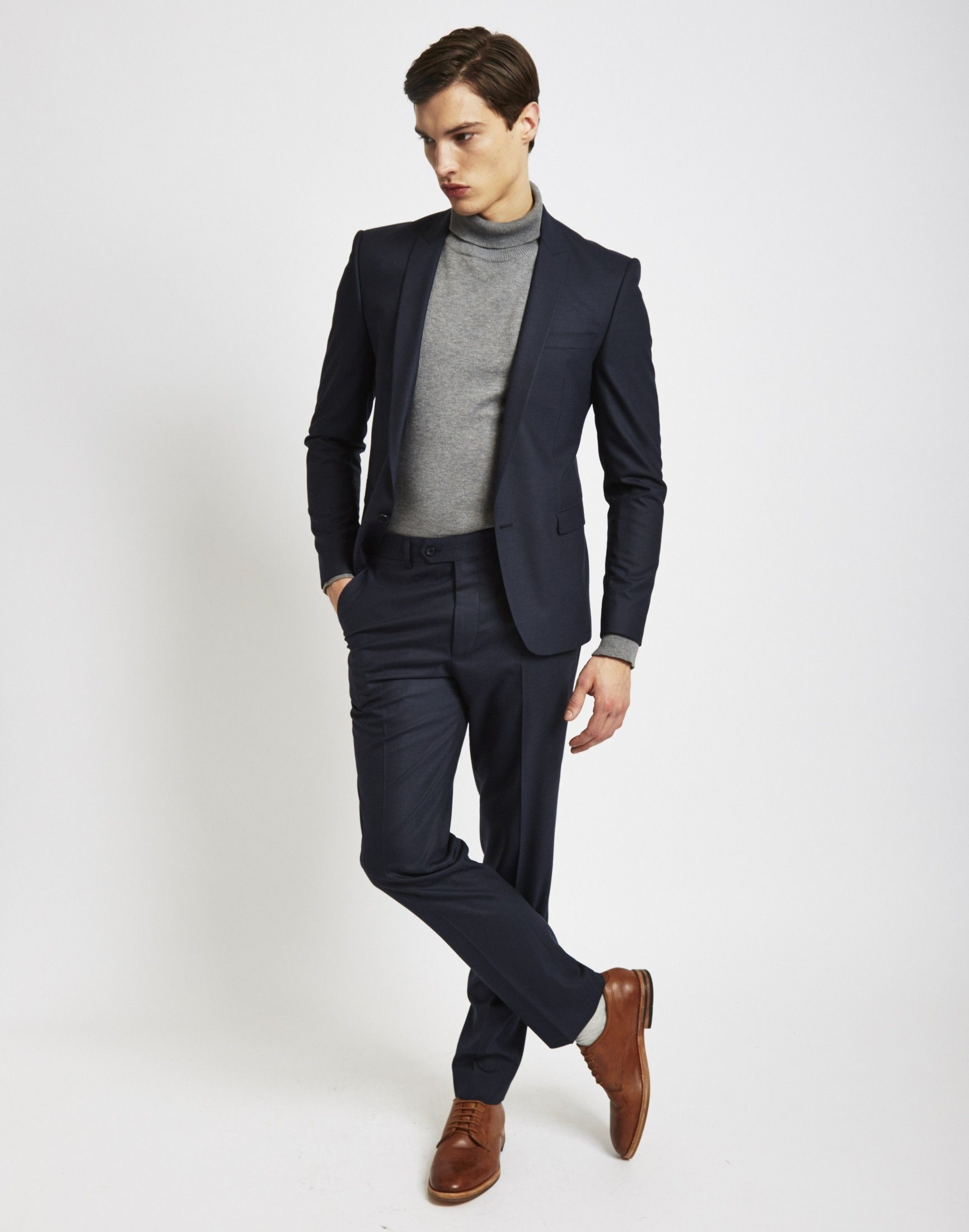 43e75a3b4fefc The Idle Man Suit Jacket in Skinny Fit - Navy | Men's fashion in ...