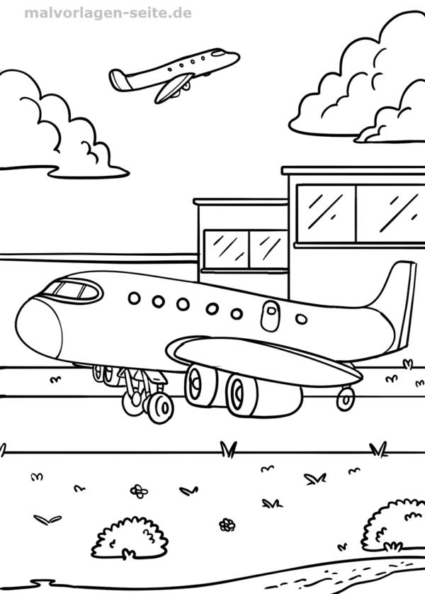 Malvorlage Flughafen Malvorlagen Ausmalbilder Pinterest
