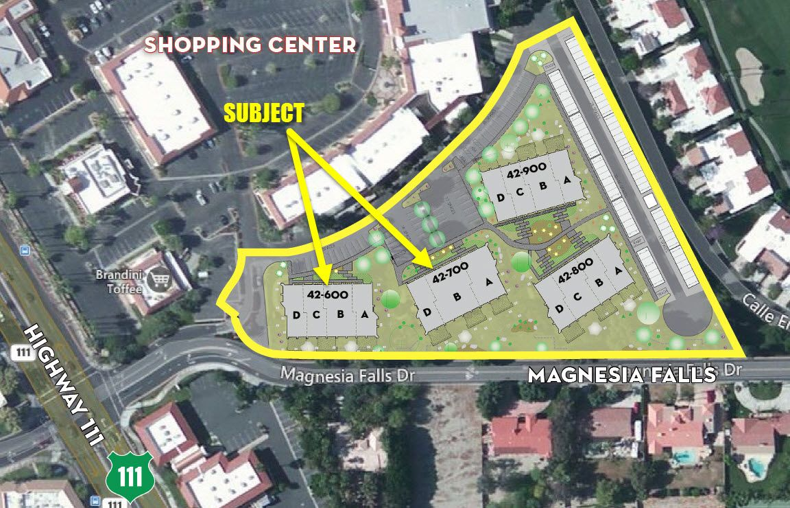 California Map Rancho Mirage%0A JUST SOLD  Approx         SF Office  Medical Buildings on Bob Hope Drive