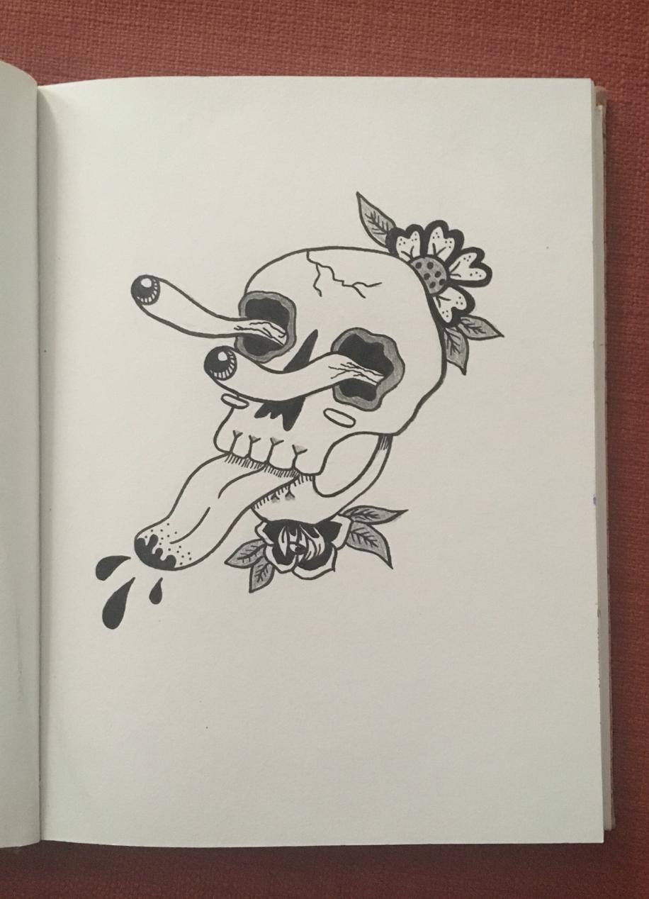 Skull flash ink inkdrawing pen pendrawing pencil pencildrawing