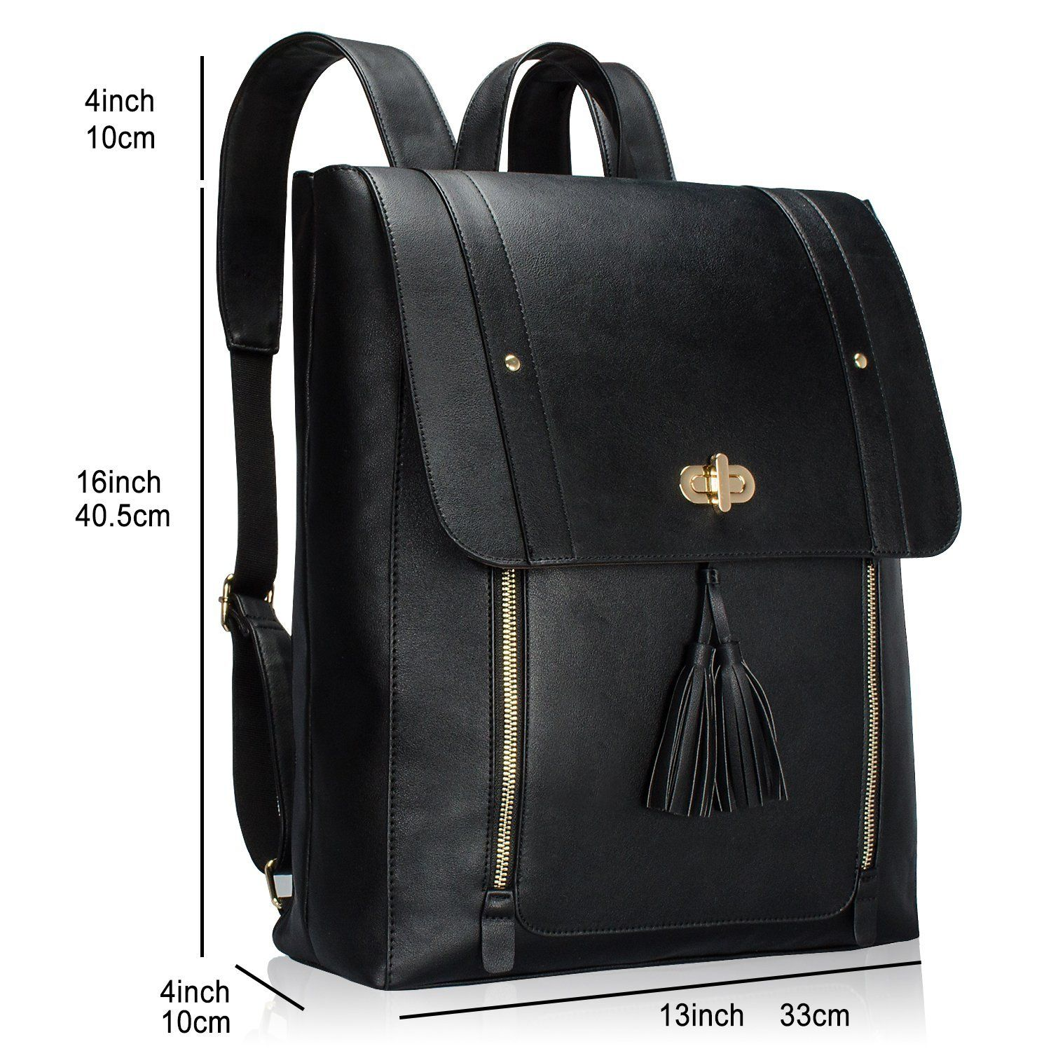 estarer  Estarer Women Backpack Handbag PU Leather 15.6 inch Laptop Rucksack ...