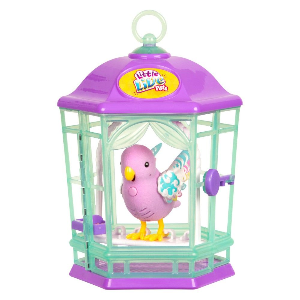 Little Live Pets Light Up Songbirds With Cage Purple