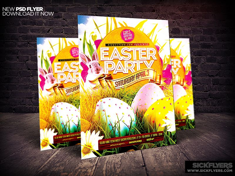 Easter Flyer Template Psd  Flyer Template And Easter