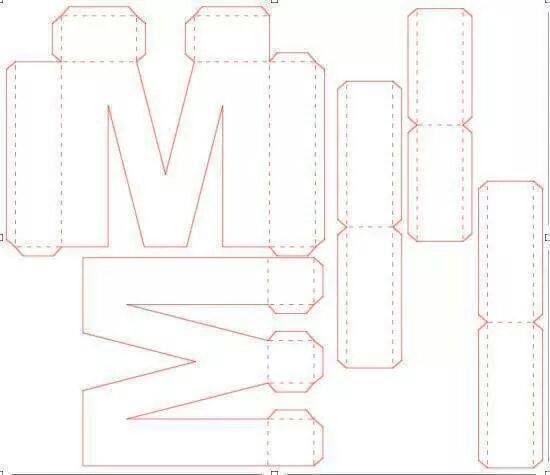 3d letters skulptur schnittmuster pinterest. Black Bedroom Furniture Sets. Home Design Ideas