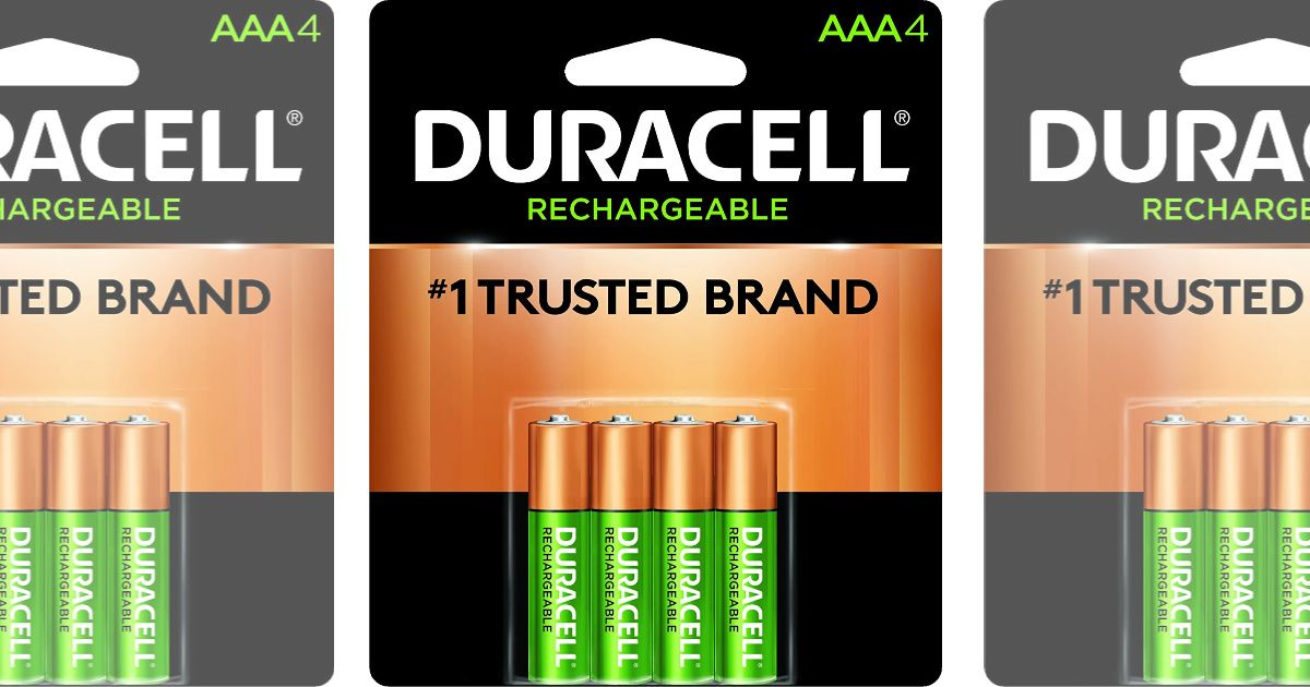 Hurry On Over To Amazon Where You Can Grab A Duracell Rechargeable Aaa Batteries 4 Pack For Only 4 63 Shipped Duracell Aaa Batteries Recharge