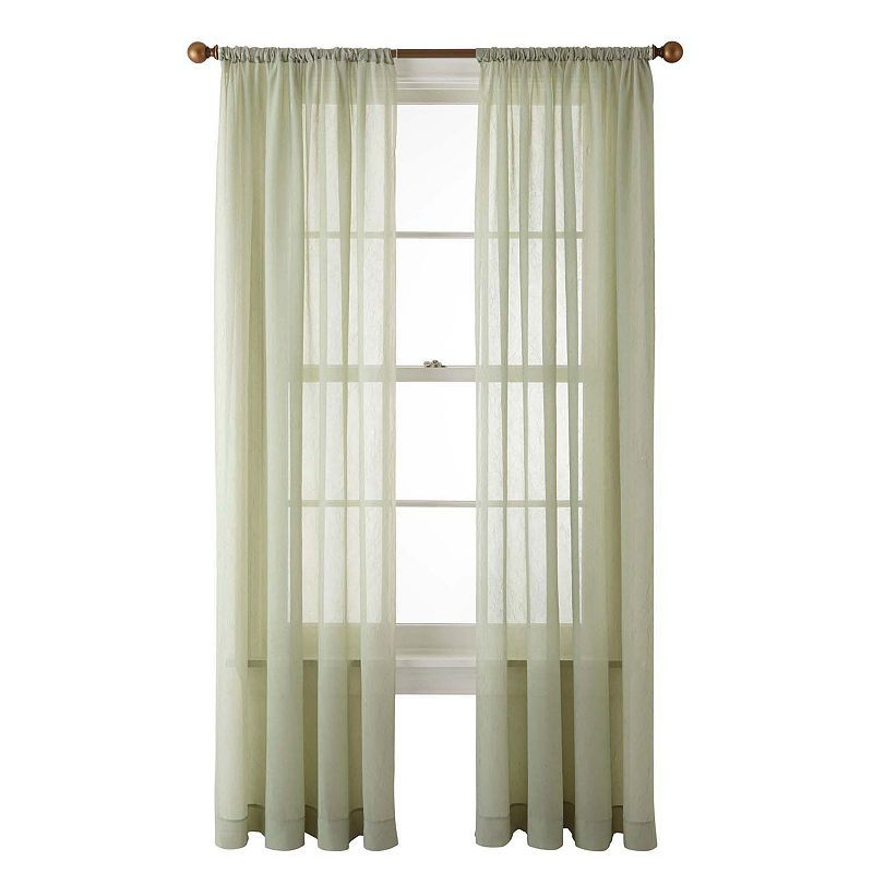 Home Expressions Crushed Voile Rod Pocket Sheer Curtain Panel