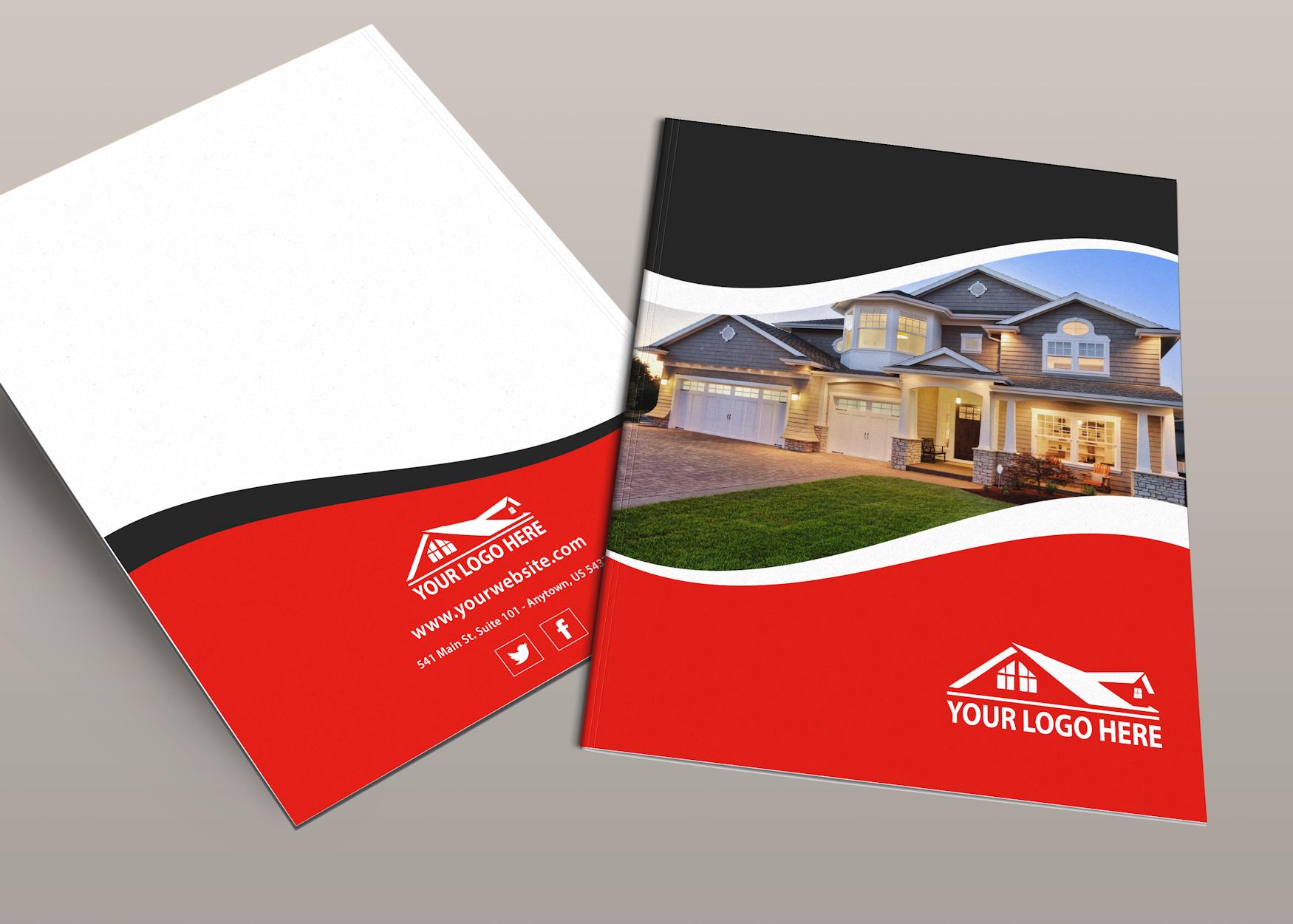 Real Estate Folders Custom Templates for