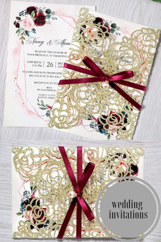 wedding invitations in 2020 Belly band wedding