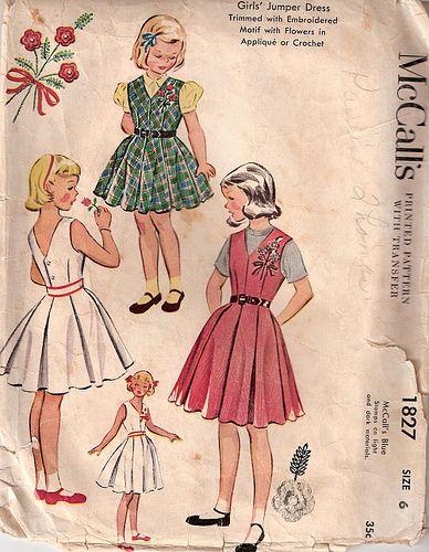 1950 Children\'s Dress Pattern