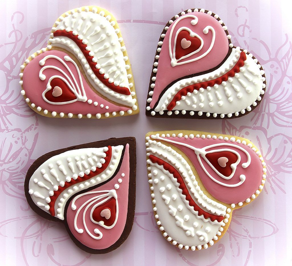 Valentine cookies food