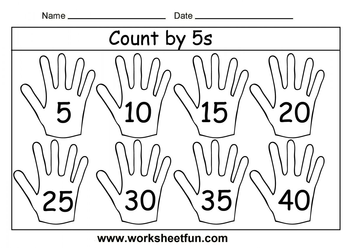 11 Counting By 5s Worksheet Kindergarten