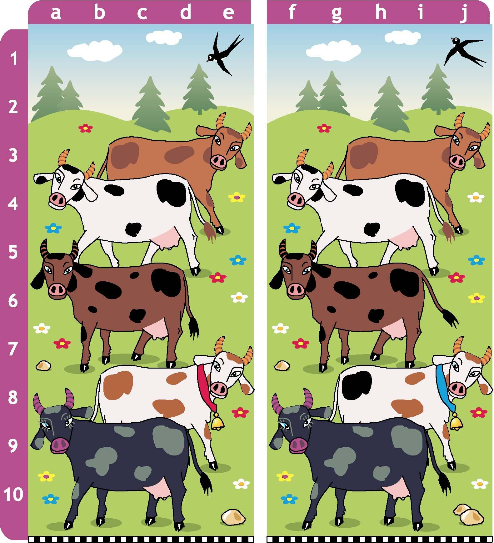 Free Find the Differences Game for children! Online